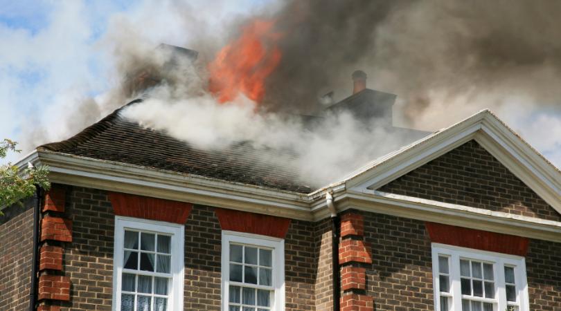 a house fire
